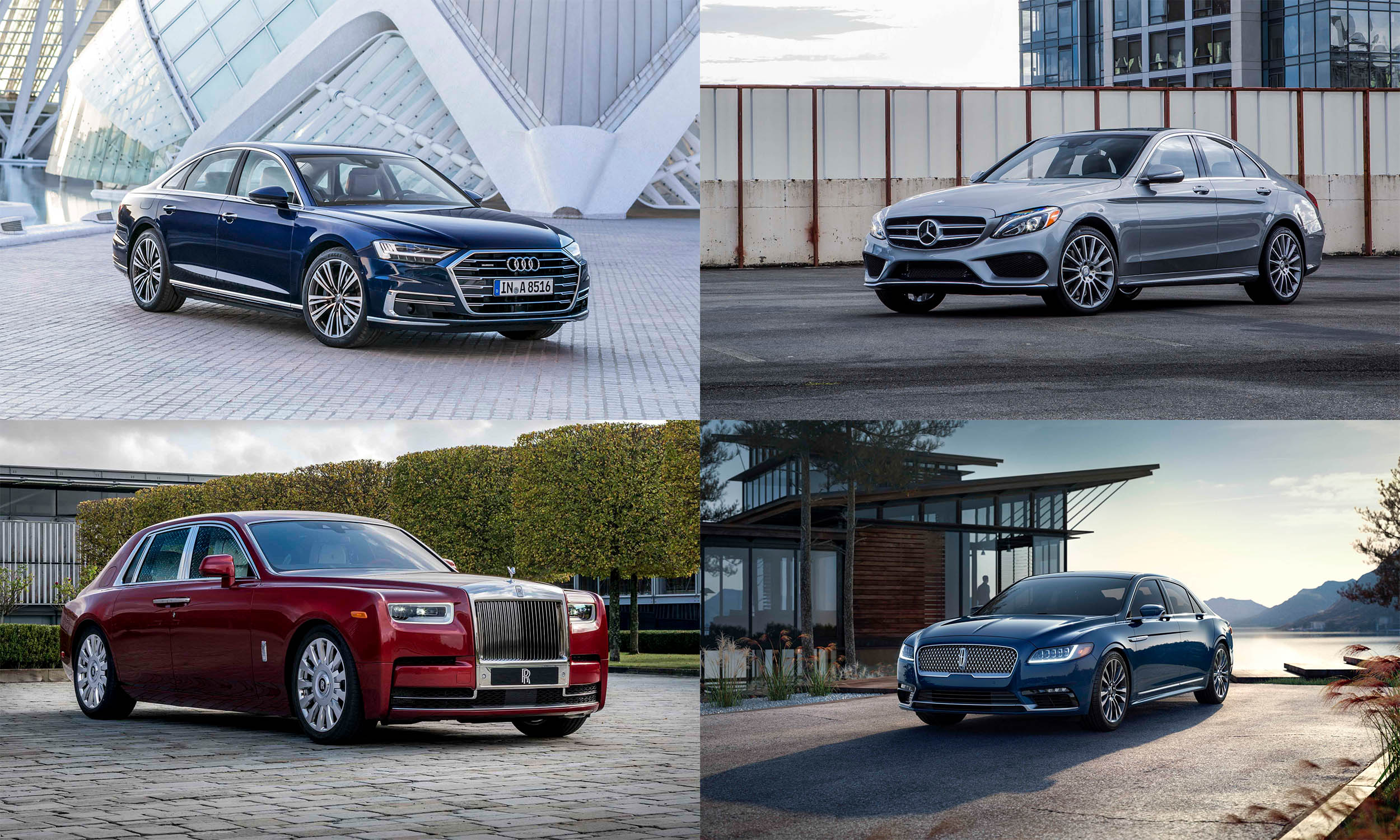 © Audi AG, © BMW AG, © Mercedes-Benz USA, © Ford Motor Company