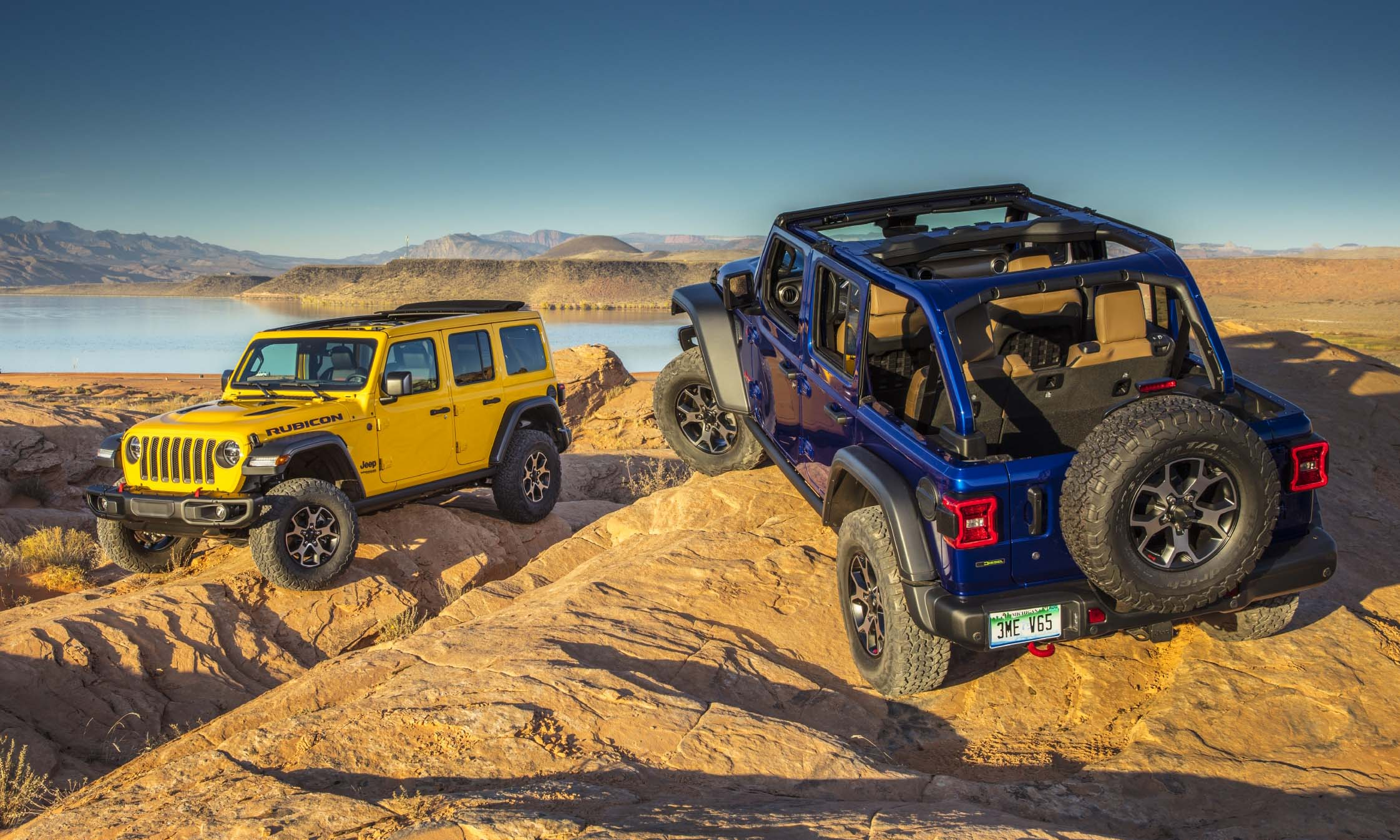 2021 Jeep Wrangler Jeep offers the 2021 Wrangler in five trim levels: Sport, Sport S, Sahara, Rubicon and High Altitude, with Sahara and High Altitude offered exclusively as a 4-door Unlimited and the other three available in both 2-door and 4-door Unlimited versions. For 2021 Jeep will also add the plug-in hybrid Wrangler 4xe, high-performance Wrangler Rubicon 392 and two new limited editions: Islander and 80th Anniversary. For 2021 Jeep also offers Willys, Freedom, Sport Altitude and Sahara Altitude limited edition. Available powertrains included the 285-horsepower Pentastar V6, a new turbocharged 4-cylinder engine with eTorque technology producing 270 horsepower and 290 lb-ft of torque, a 3.6-liter V6 with mild-hybrid eTorque assist, and a 3.0-liter V6 EcoDiesel producing 260 horsepower and 442 lb-ft of torque. For 2021 Wrangler offers the TrailCam forward-facing off-road camera with an 8.4-inch touchscreen that can be accessed through available Off-road Pages. 2021 Jeep Wrangler 4xe In September 2020 Jeep announced a new plug-in hybrid Wrangler 4xe with electric-only mode — including while off-road — with the same off-pavement capabilities as its non-electric siblings. Wrangler 4xe is powered by a 2.0-liter turbocharged 4-cylinder gas engine and two electric motors for a total output of 375 horsepower and 470 lb-ft of torque. Wrangler 4xe EPA fuel-economy ratings have not been released, although Jeep estimates 50 MPGe in electric mode and an electric-only range of about 25 miles. All high-voltage electronics that connect the battery to the powertrain are sealed and waterproof, ensuring that Wrangler can still navigate up to 30 inches of water without any danger of short circuiting. 2021 Jeep Wrangler Rubicon 392 In November 2020 Jeep announced the 2021 Wrangler Rubicon 392, the first Wrangler powered by a V8 engine since 1981. In the '80s Wrangler's 5.0-liter V8 produced a mere 125 horsepower. Fast-forward 40 years and Wrangler Rubicon 392 gets a 6.4-liter 392-c