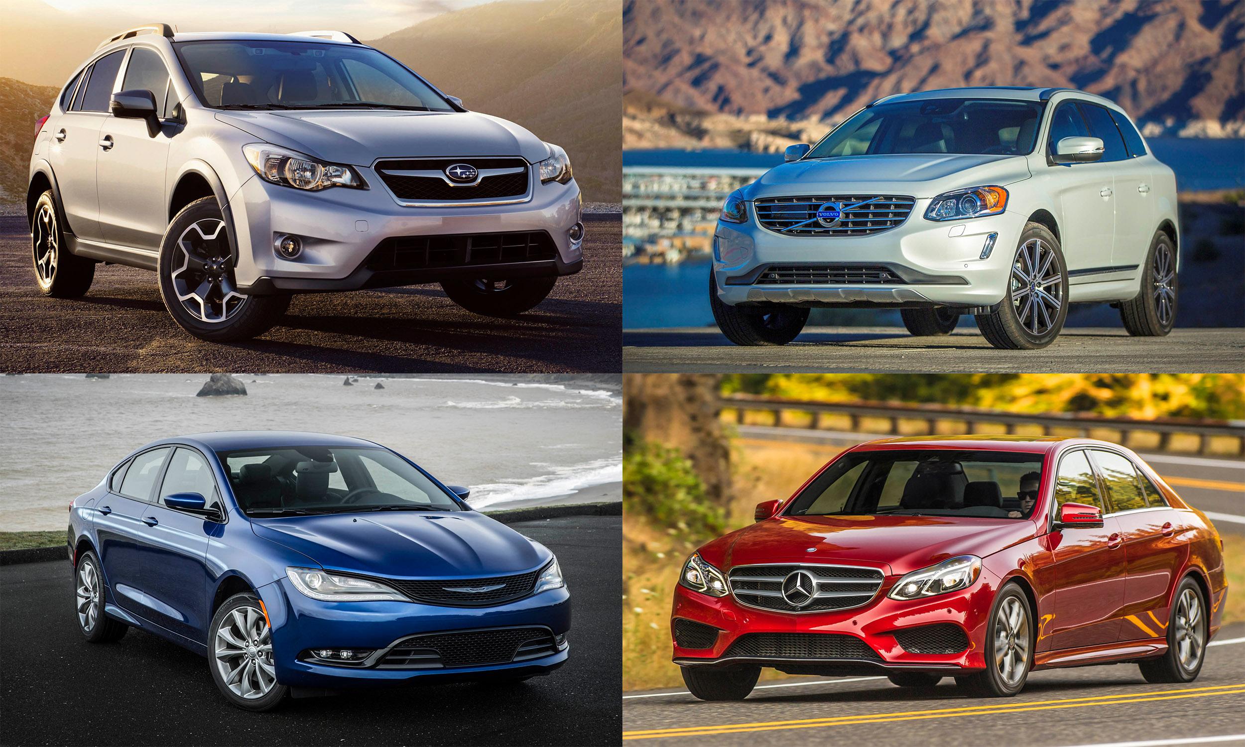 © Subaru of America, © Volvo Cars North America, © FCA US, © Mercedes-Benz USA