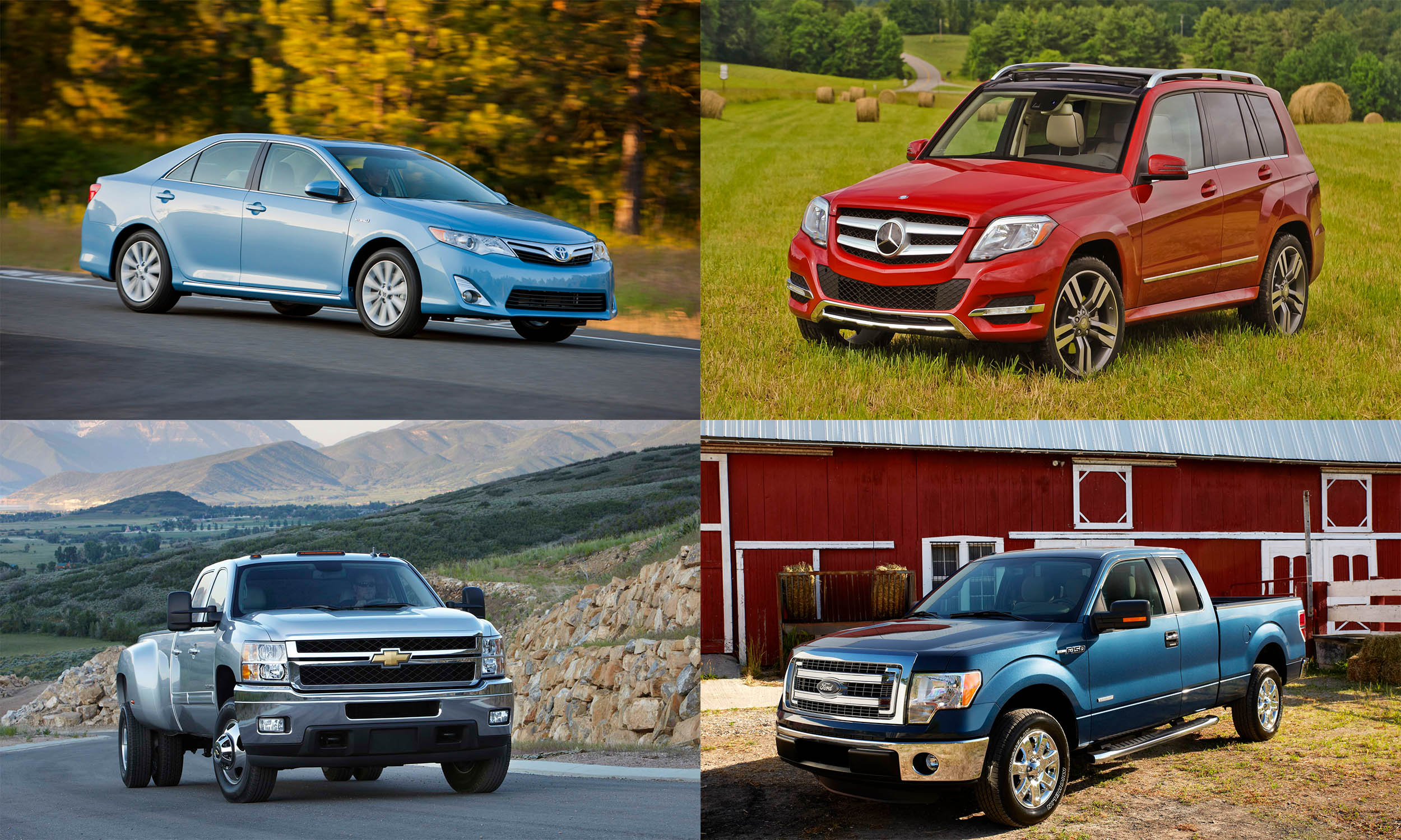 © Toyota Motor Sales USA, © General Motors, © Mercedes-Benz USA, © Ford Motor Company