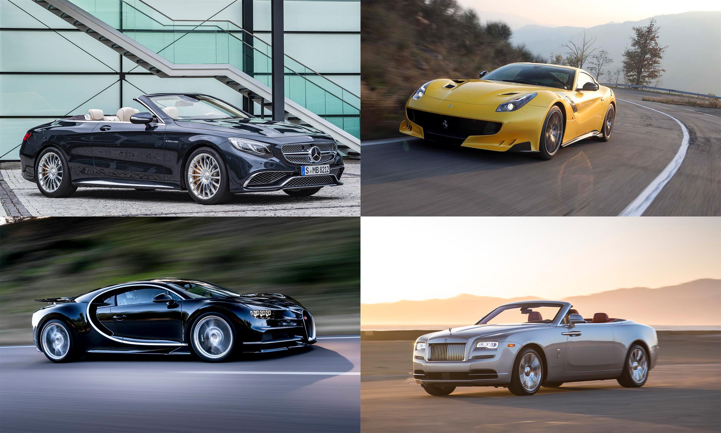 © Mercedes-Benz USA, © Ferrari S.p.A, © BMW AG, © Bugatti Automobiles S.A.S.