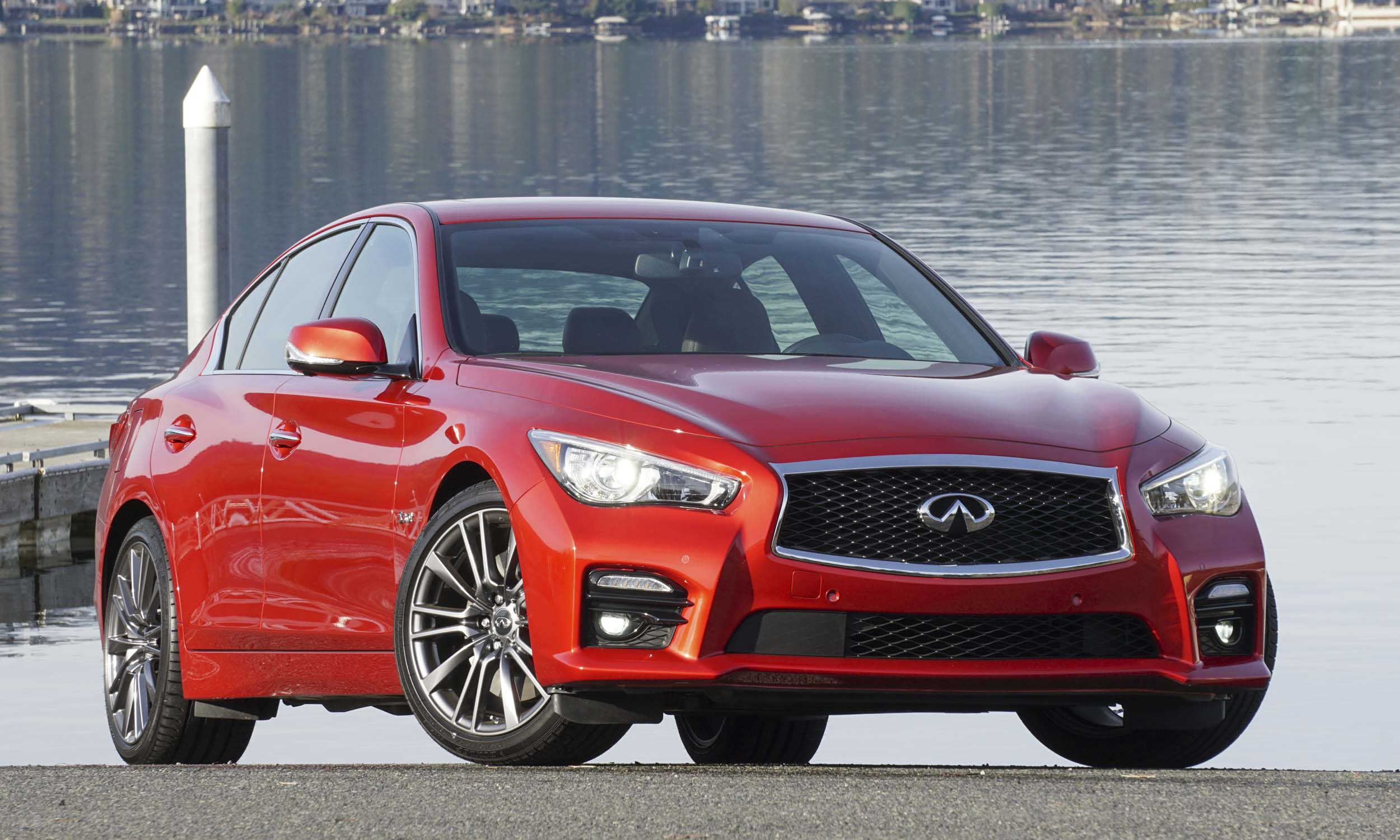 High Performance Well Equipped 2017 Infiniti Q50 Red Sport