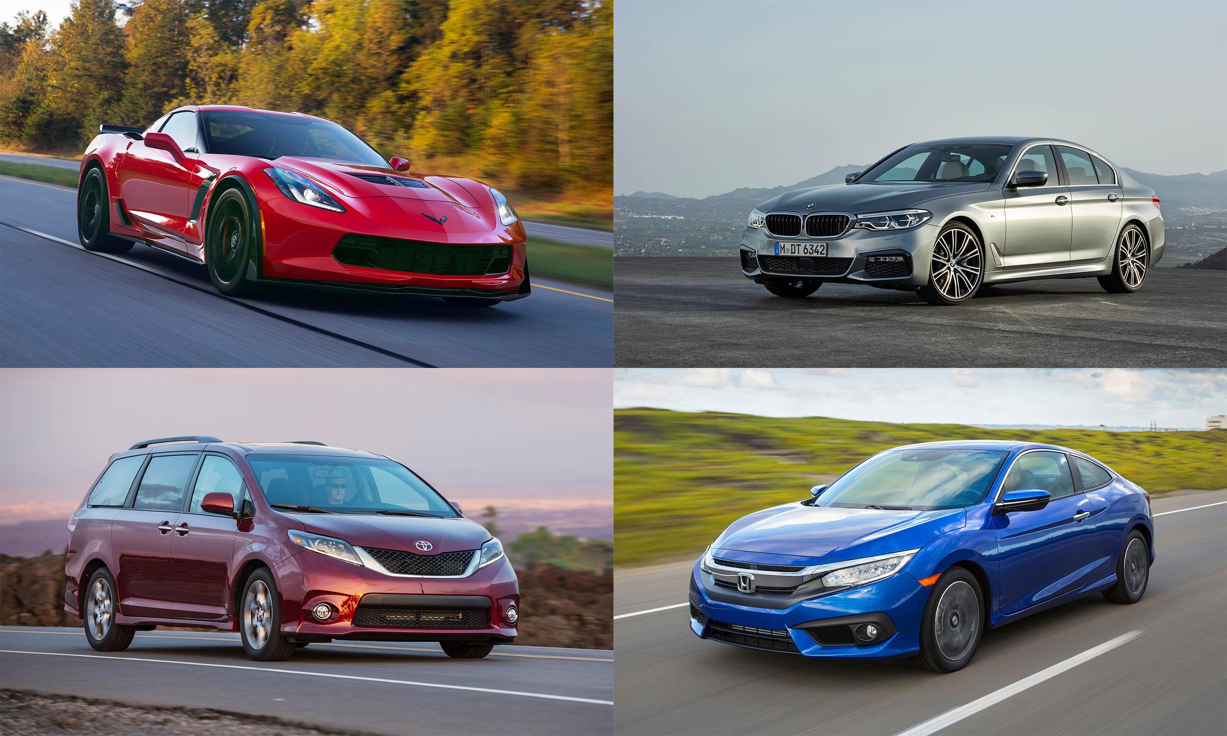 © General Motors, © Toyota Motor Sales USA, © BMW USA, © American Honda Motors