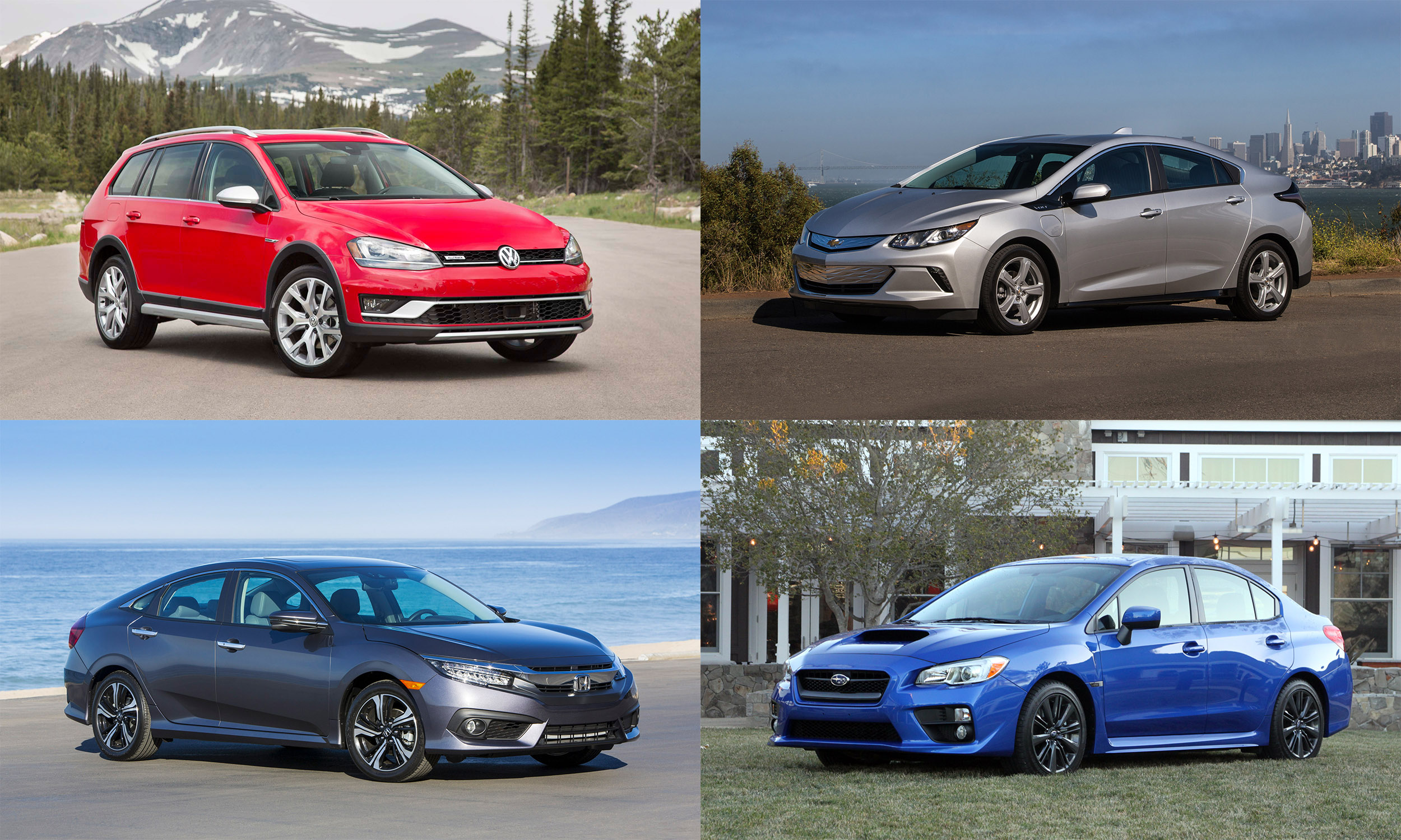 © Volkswagen AG, © American Honda Motors, © General Motors, © Subaru of America