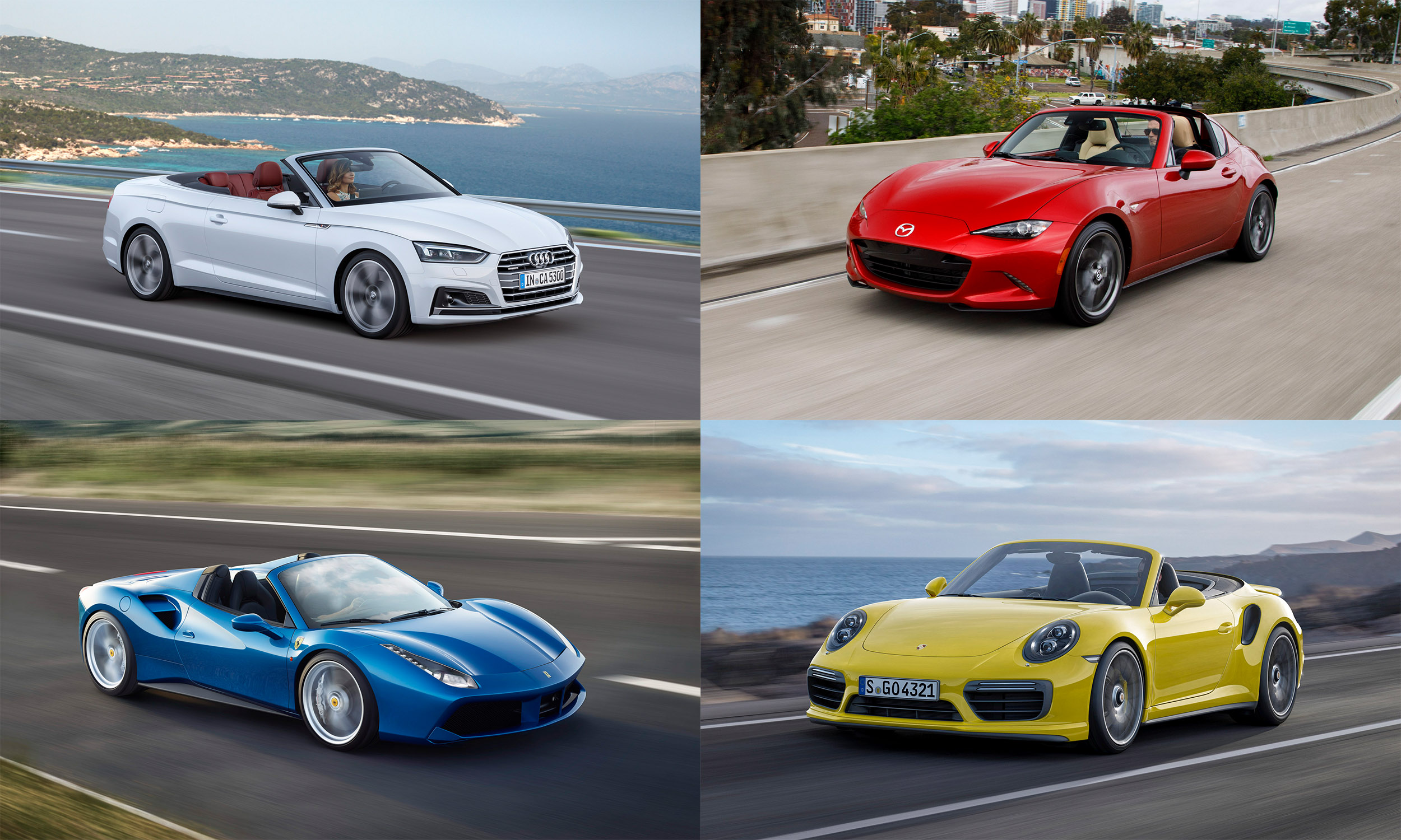 © Audi of America; Mazda North American Operations; Porsche Cars North America; Ferrari S.p.A.