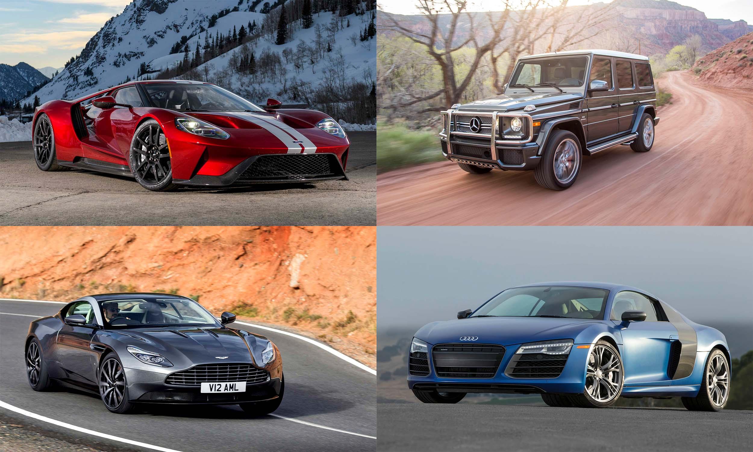 © Ford Motor Company, © Aston Martin Lagonda, © Mercedes-Benz USA, © Audi of America