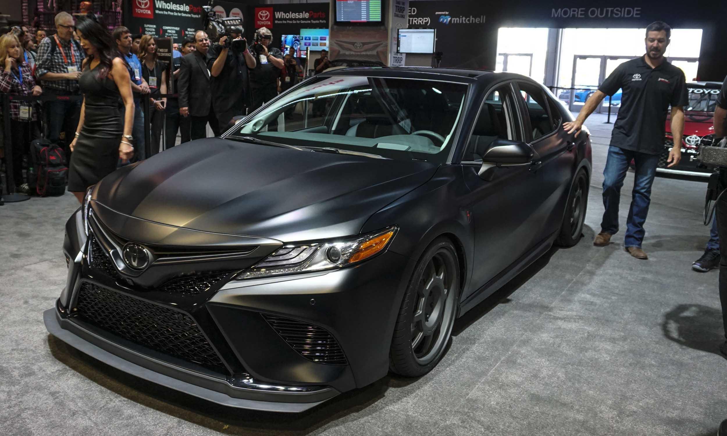 Matte Black Toyota Camry >> 2017 SEMA Show: Custom Camrys by NASCAR Stars - » AutoNXT
