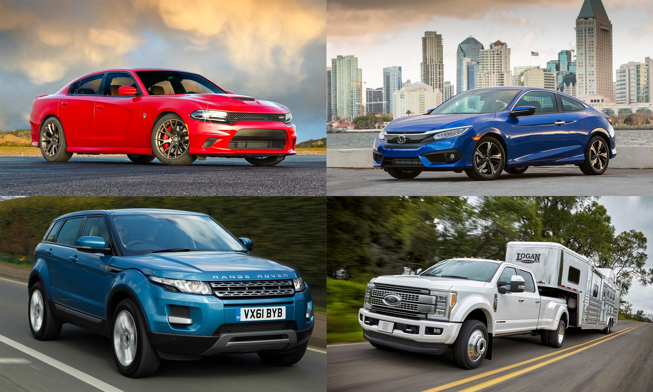 © FCA US, © Jaguar Land Rover, © American Honda Motors, © Ford Motor Company