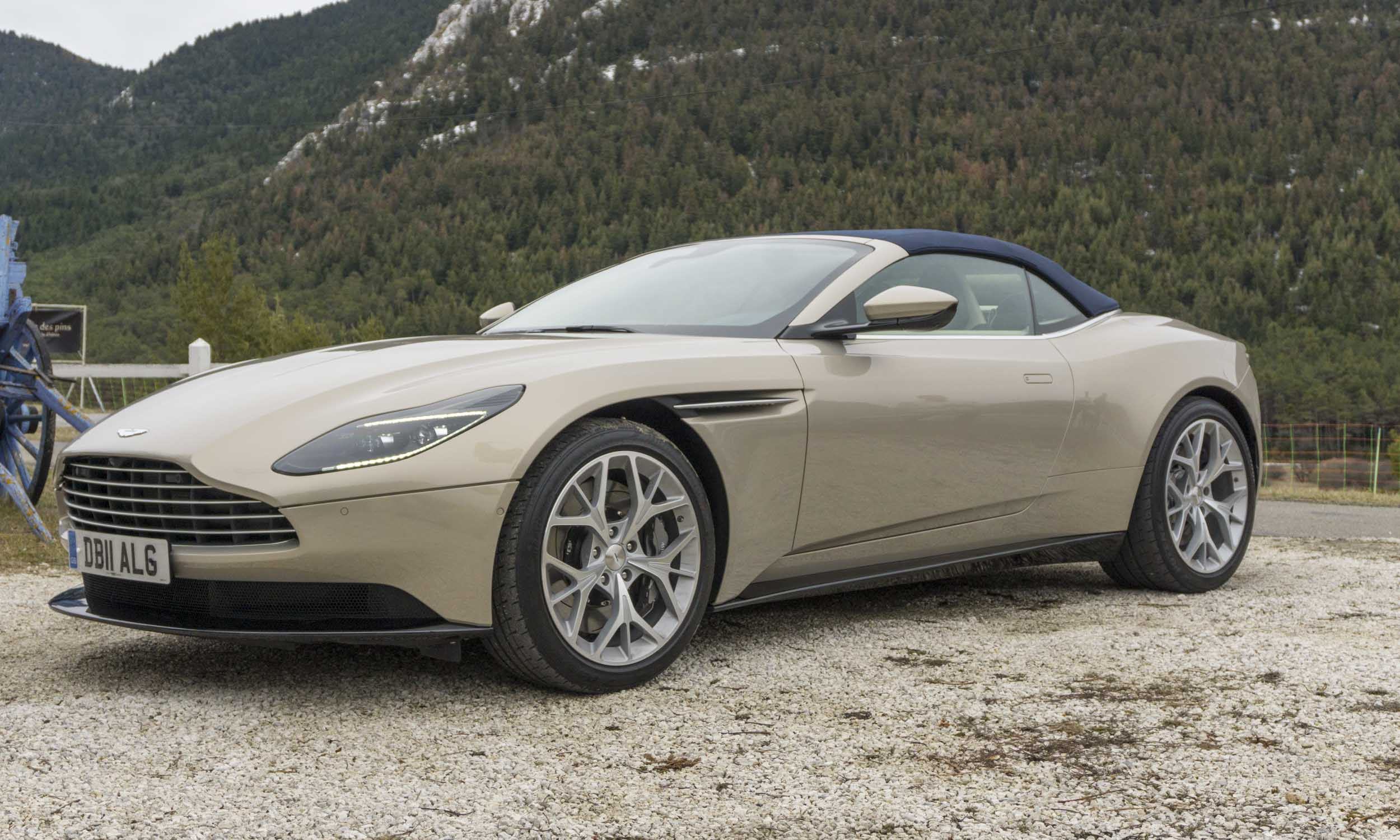 2019 aston martin db11 volante first drive review autonxt. Black Bedroom Furniture Sets. Home Design Ideas