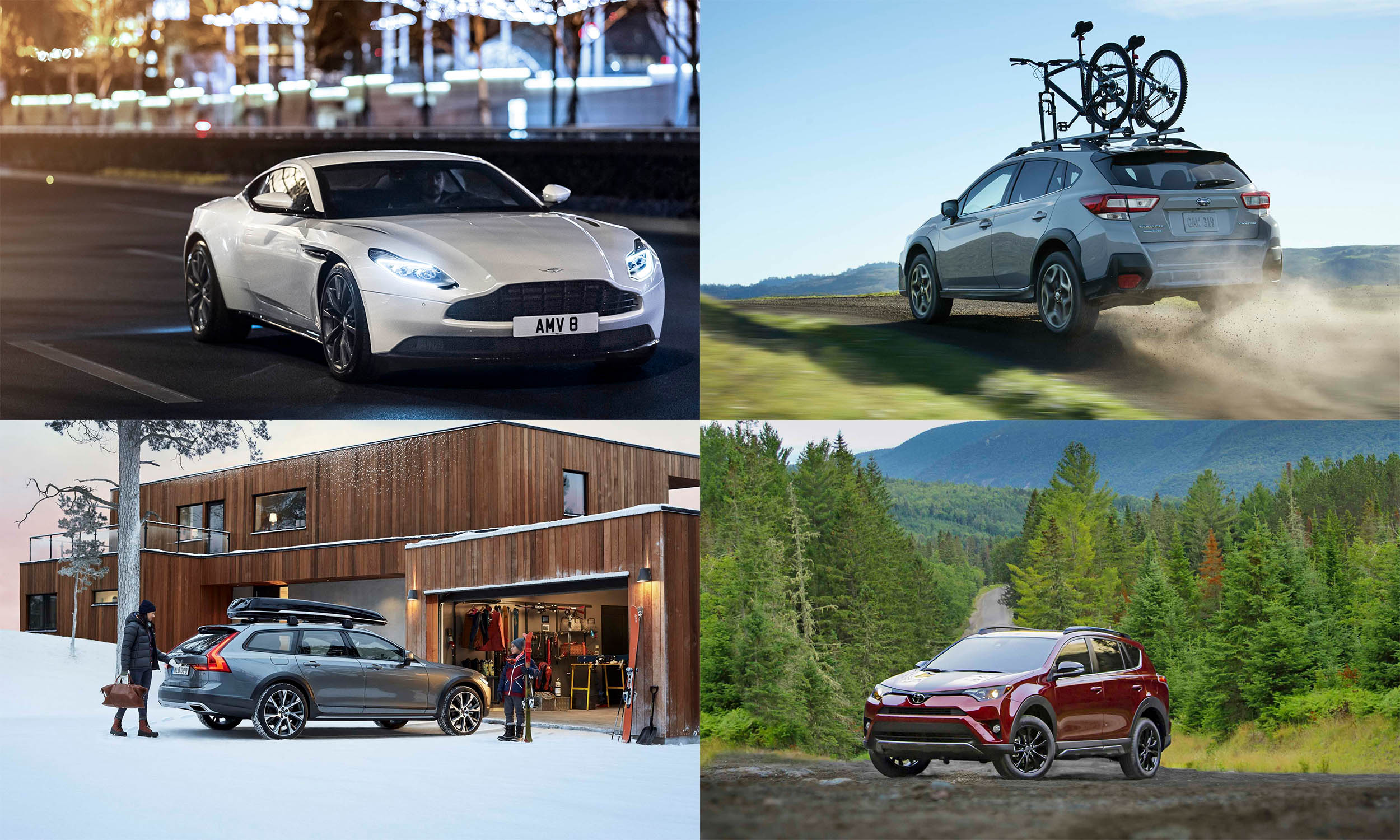 © Aston Martin, © Volvo Cars North America, © Subaru of America, © Toyota Motor Sales USA
