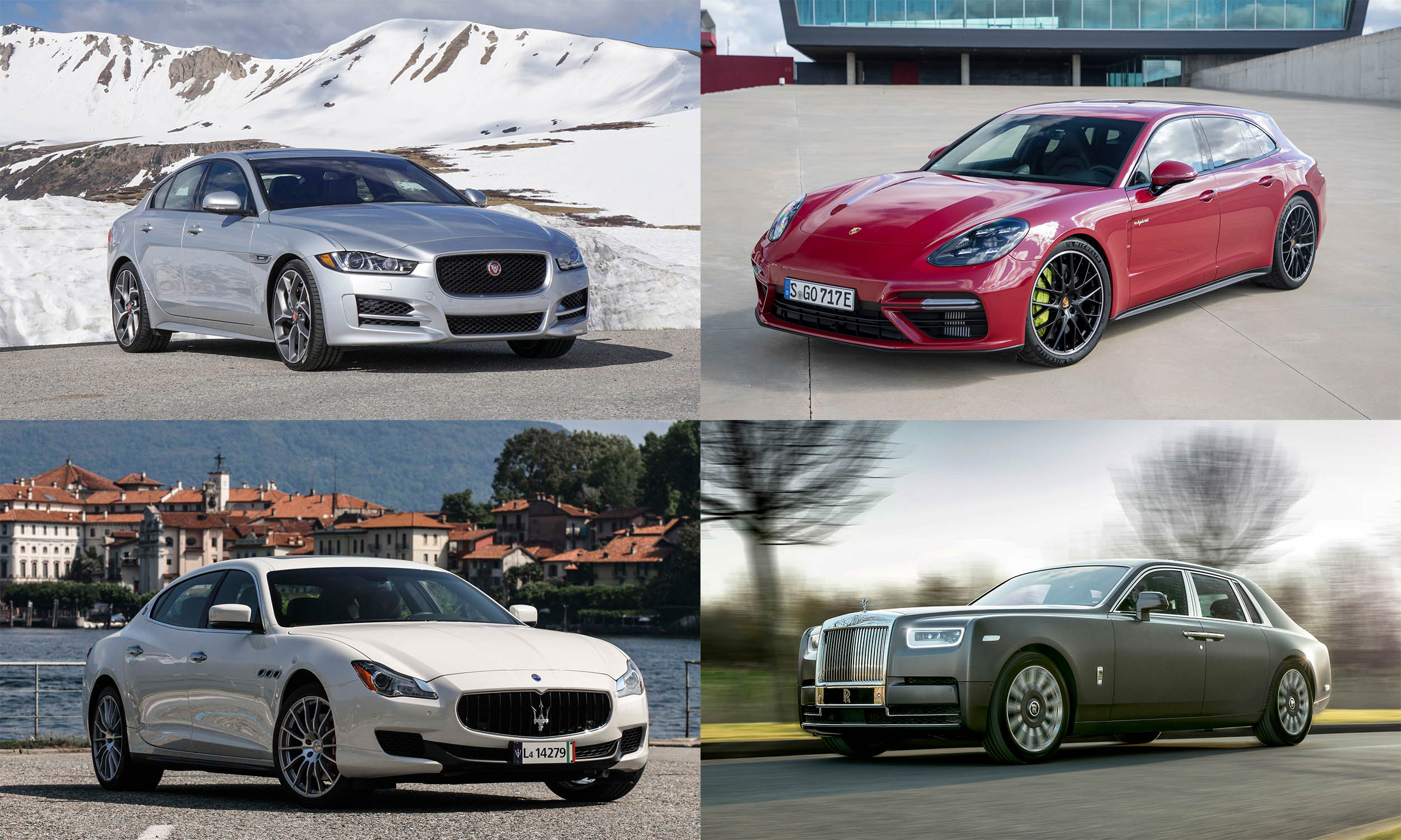 © Perry Stern, Automotive Content Experience, © Jaguar Land Rover, © Porsche Cars North America, © BMW AG