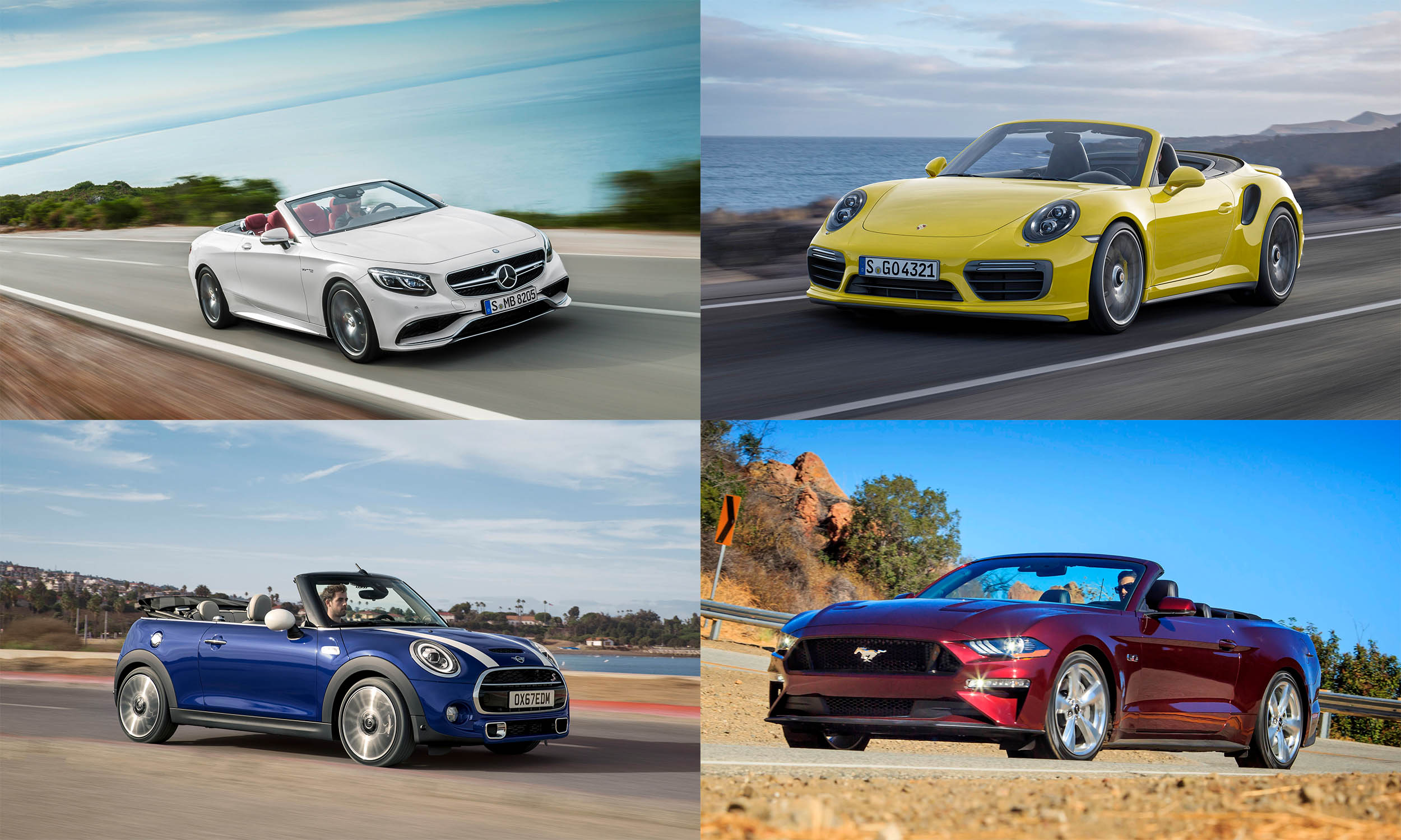 © Mercedes-Benz USA, © BMW USA, © Porsche Cars North America, © Ford Motor Company