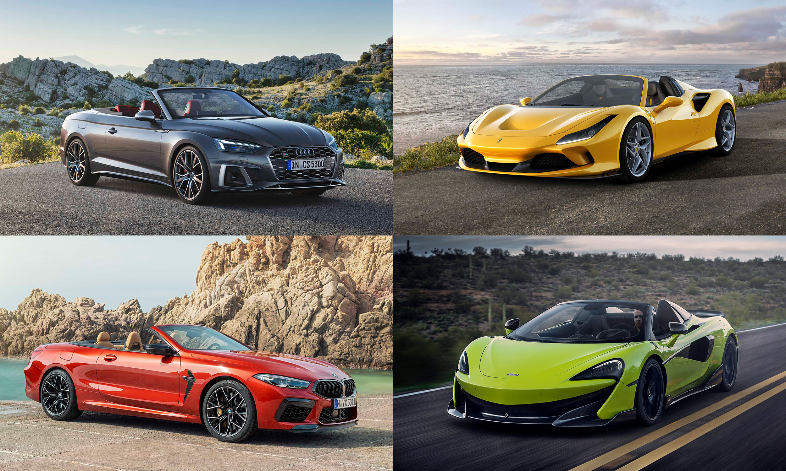 © Audi AG; Ferrari S.p.A.; McLaren Automotive Limited; BMW of North America